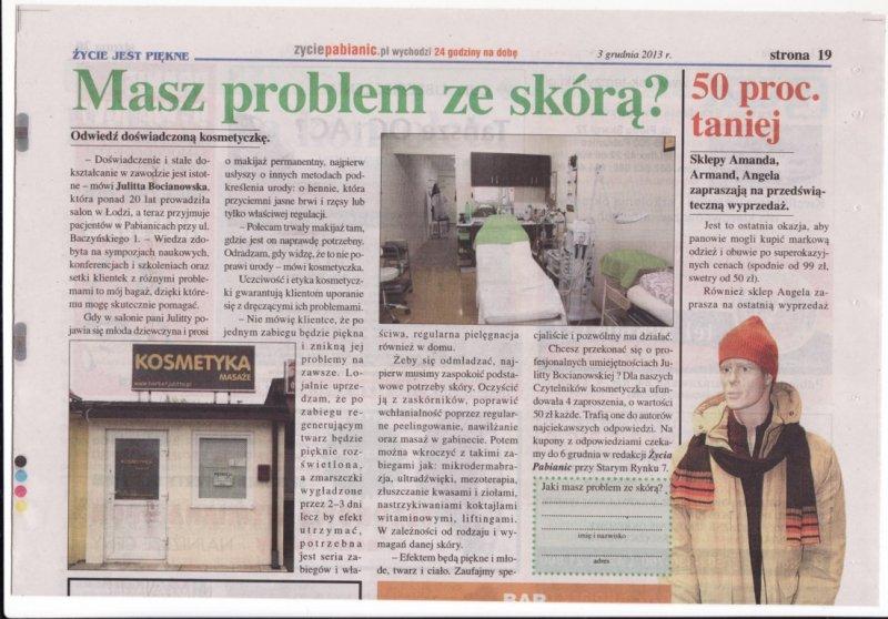 Artykuł w Życiu Pabianic